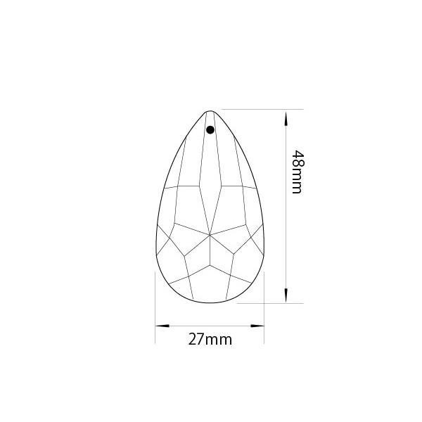 アクリルシャンデリアパーツドロップ型オーナメントF50クリア|decoline|03