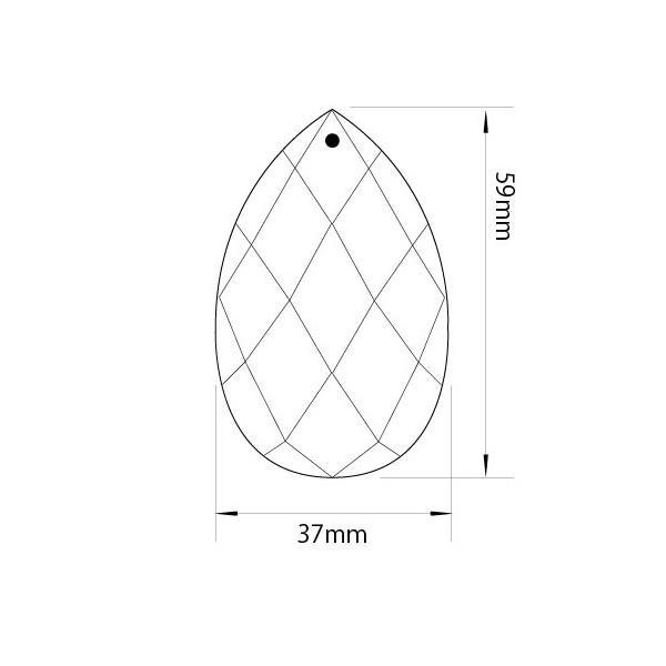アクリルシャンデリアパーツドロップ型オーナメントF60クリア|decoline|03