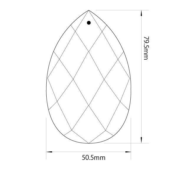 アクリルシャンデリアパーツドロップ型オーナメントF80クリア|decoline|03