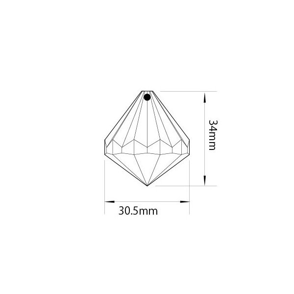アクリルシャンデリアパーツ ドロップ型オーナメントH35クリア|decoline|03