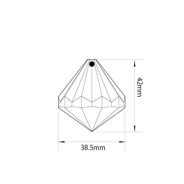アクリルシャンデリアパーツ ドロップ型オーナメントH40クリア|decoline|03