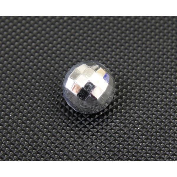 アクリルラインビーズ ミラーボールカット18mm玉 シルバーメッキ|decoline
