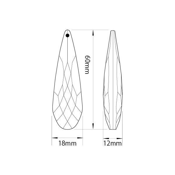 アクリルシャンデリアパーツ ロップ型オーナメントP60クリア|decoline|03