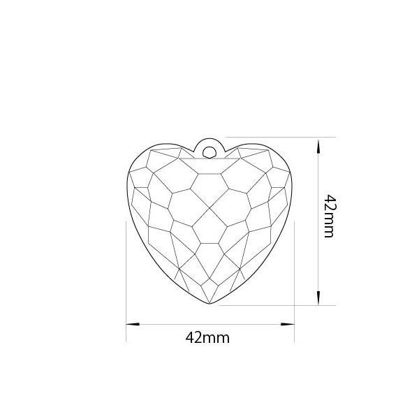 アクリルシャンデリアパーツ ハート型オーナメントT40|decoline|03