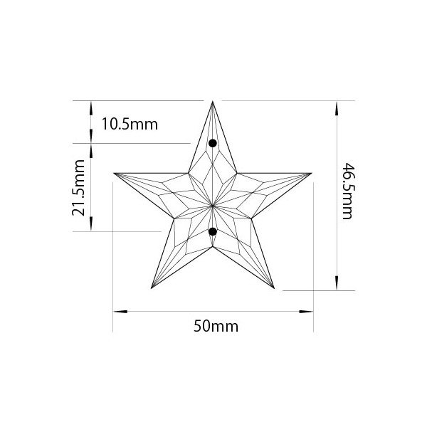 アクリルシャンデリアパーツ/クリスタルビーズ星型uc45クリア|decoline|03