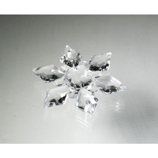 アクリルシャンデリアパーツ/クリスタルビーズ スノー・フラワー型v45クリア|decoline