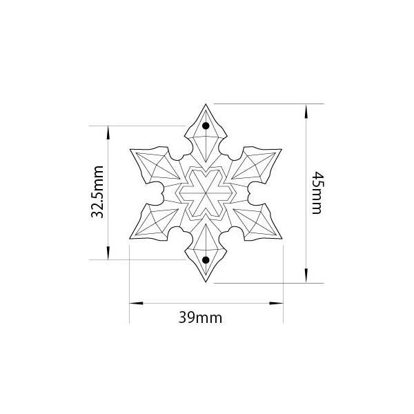 アクリルシャンデリアパーツ/クリスタルビーズ スノー・フラワー型v45クリア|decoline|03