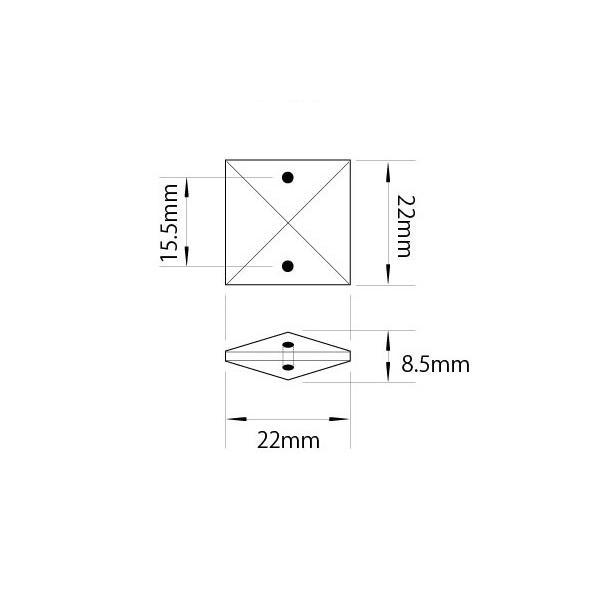 クリスタルガーランド アクリルデコチェーンR22×10個連結クリア|decoline|03