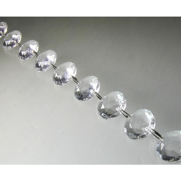 クリスタルガーランド/アクリル製シャンデリアチェーンB18平丸ダイヤカット(1m)クリア|decoline|02