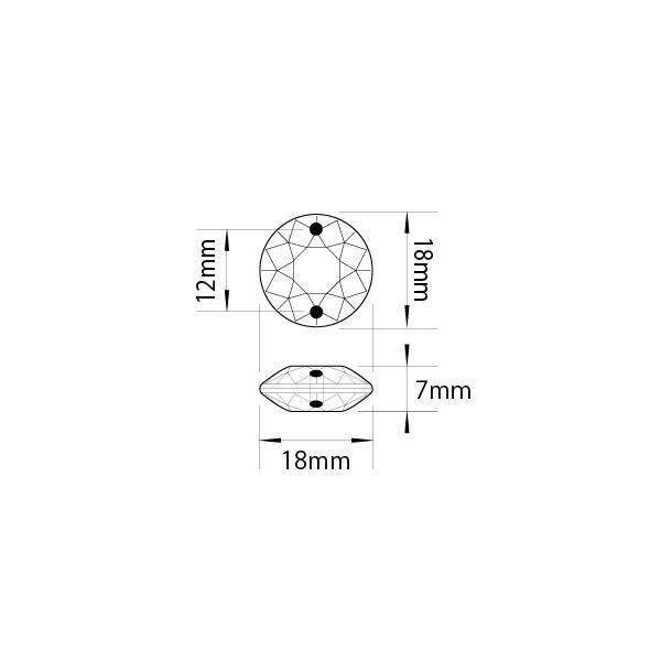 クリスタルガーランド/アクリル製シャンデリアチェーンB18平丸ダイヤカット(1m)クリア|decoline|04