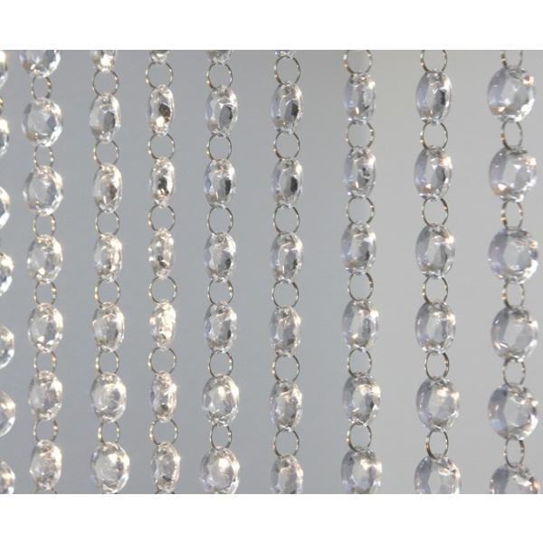 クリスタルガーランド/アクリル製シャンデリアチェーンB18平丸ダイヤカット(1m)クリア|decoline|05