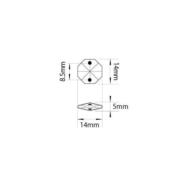 クリスタルガーランド/アクリル製シャンデリアチェーンC14スリム(1m)スモーク(クリアブラック)|decoline|04