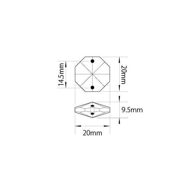 クリスタルガーランド/アクリル製シャンデリアチェーンC20(1m)クリア|decoline|04