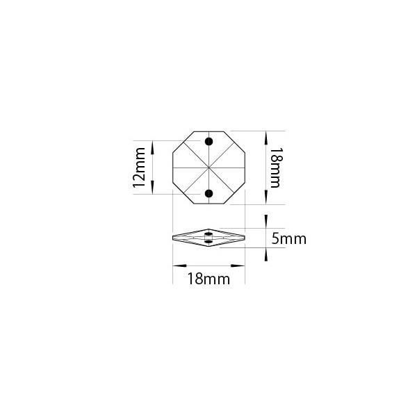 オクタゴン18mmブラック-ゴールドリング ビーズカーテン仕上げ|decoline|04