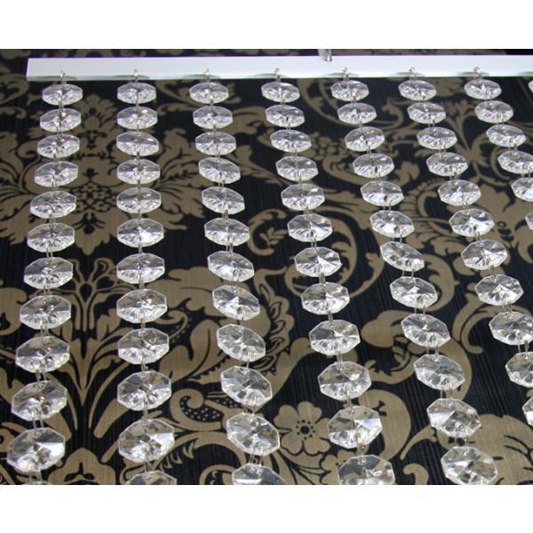 ビーズカーテン/シャンデリアカーテン アクリルクリスタルオクタゴン18mmクリア仕様|decoline