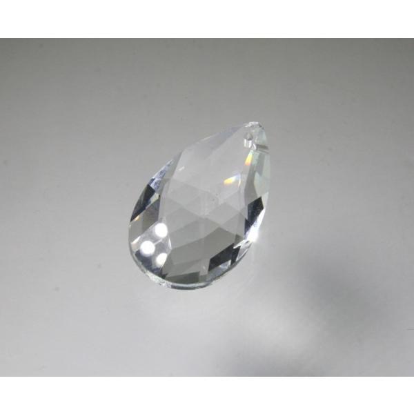ドロップ型シャンデリアパーツ ダイヤカットガラス38mm クリア|decoline