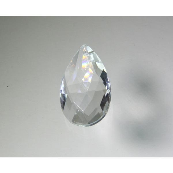 ドロップ型シャンデリアパーツ ダイヤカットガラス38mm クリア|decoline|02