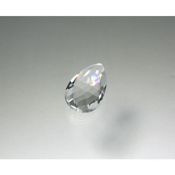 ドロップ型シャンデリアパーツ ダイヤカットガラス28mm クリア|decoline