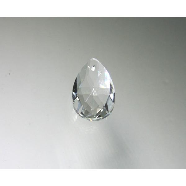 ドロップ型シャンデリアパーツ ダイヤカットガラス28mm クリア|decoline|02