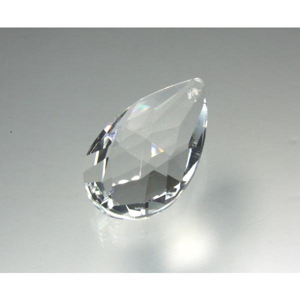 ドロップ型シャンデリアパーツ ダイヤカットガラス50mm クリア decoline