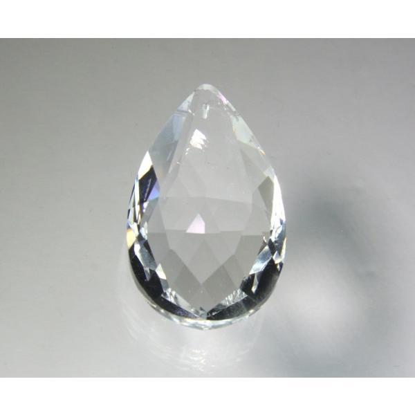 ドロップ型シャンデリアパーツ ダイヤカットガラス50mm クリア decoline 02
