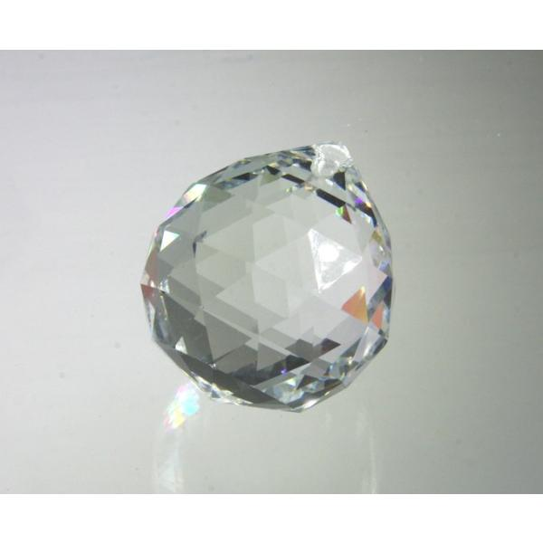 プリズム 光 ボール型 シャンデリアパーツ ダイヤカット ガラス 40mmΦ クリア|decoline