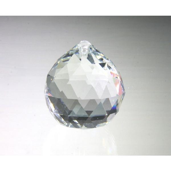プリズム 光 ボール型 シャンデリアパーツ ダイヤカット ガラス 40mmΦ クリア|decoline|02