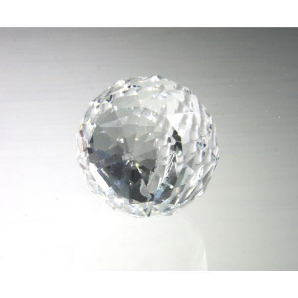 プリズム 光 ボール型 シャンデリアパーツ ダイヤカット ガラス 40mmΦ クリア|decoline|03