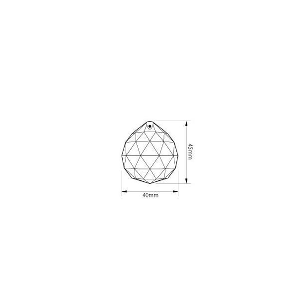 ボール型シャンデリアパーツ ダイヤカットガラス40mmΦ クリア|decoline|04