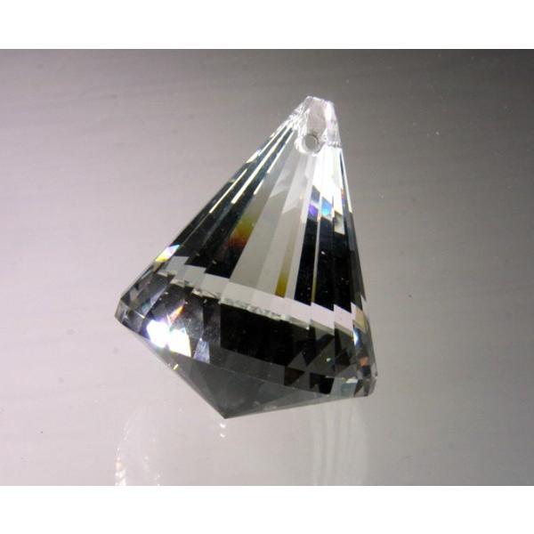 コーン型シャンデリアパーツ カットガラス50mm クリア|decoline