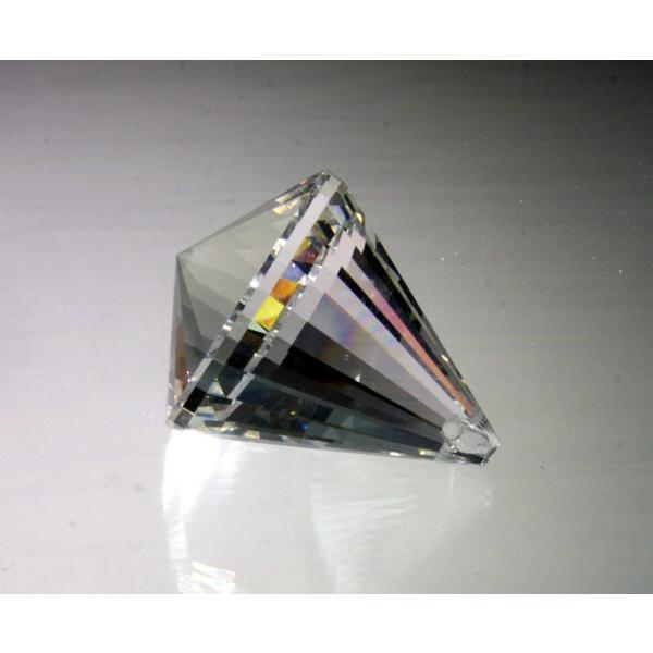 コーン型シャンデリアパーツ カットガラス50mm クリア|decoline|03