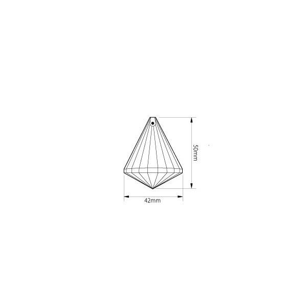 コーン型シャンデリアパーツ カットガラス50mm クリア|decoline|04