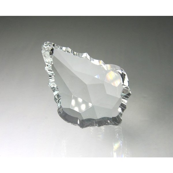 リーフ型シャンデリアパーツ カットガラス60mm クリア|decoline