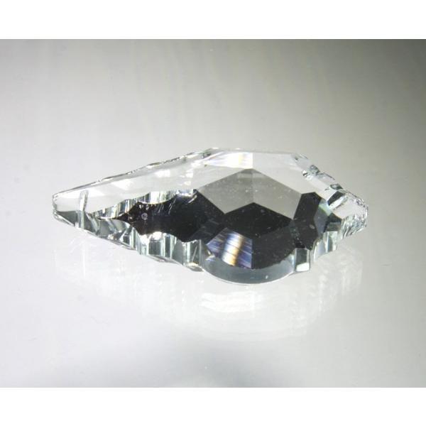 リーフ型シャンデリアパーツ カットガラス60mm クリア|decoline|02