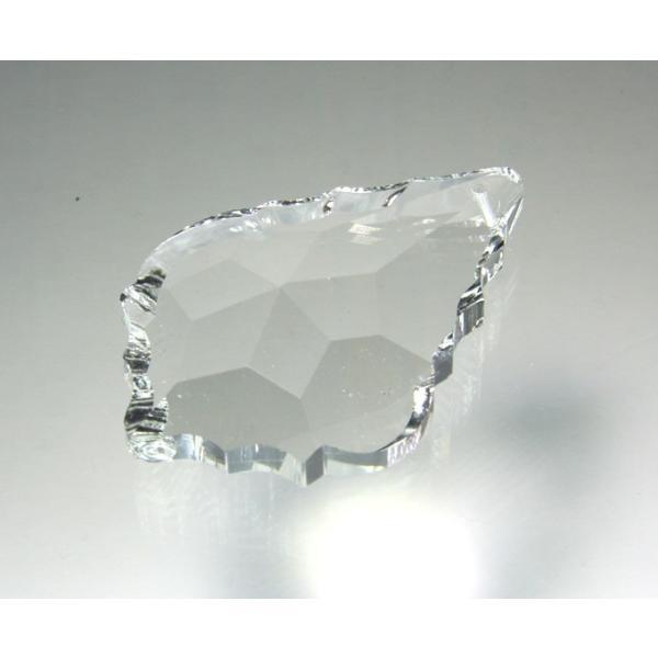 リーフ型シャンデリアパーツ カットガラス60mm クリア|decoline|03