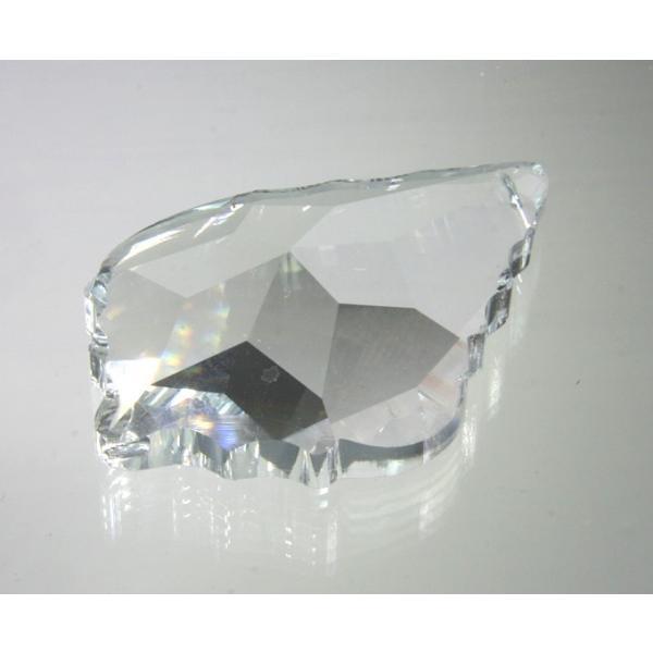 リーフ ヒイラギ型シャンデリアパーツ カットガラス75mm クリア|decoline