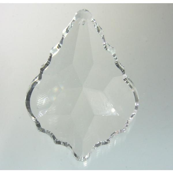 リーフ ヒイラギ型シャンデリアパーツ カットガラス75mm クリア|decoline|02