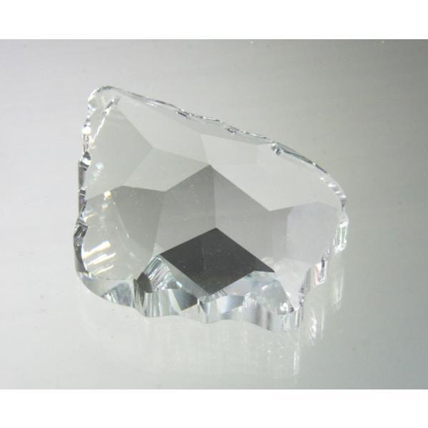 リーフ ヒイラギ型シャンデリアパーツ カットガラス75mm クリア|decoline|03