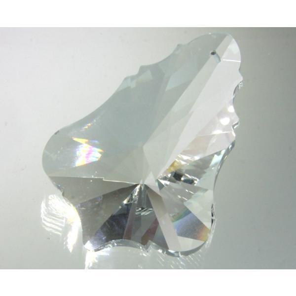 リーフ型シャンデリアパーツ カットガラス75mm クリア|decoline