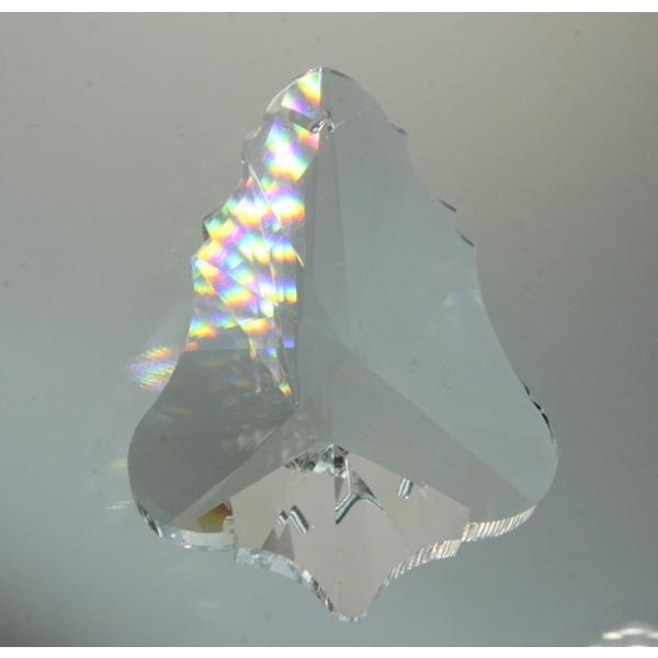 リーフ型シャンデリアパーツ カットガラス75mm クリア|decoline|02