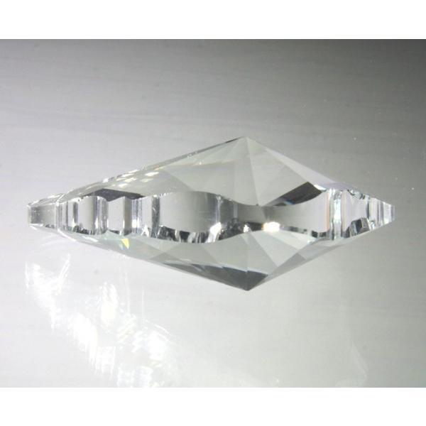 リーフ型シャンデリアパーツ カットガラス75mm クリア|decoline|03