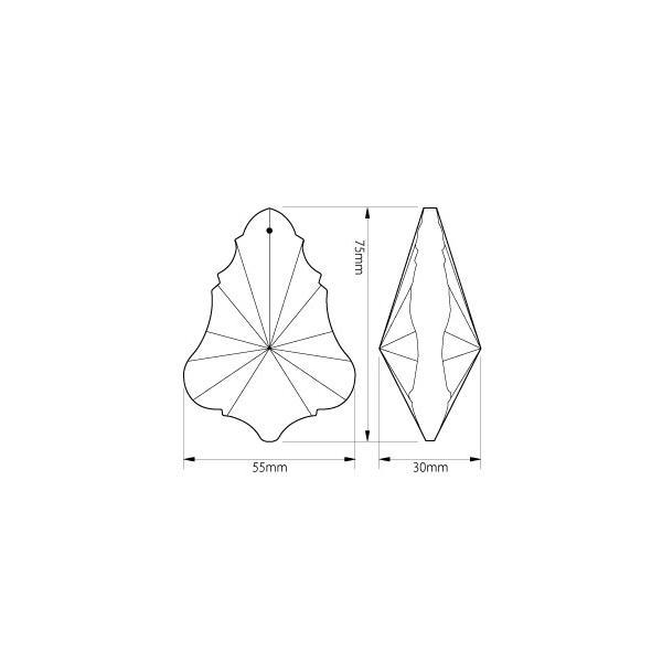 リーフ型シャンデリアパーツ カットガラス75mm クリア|decoline|04