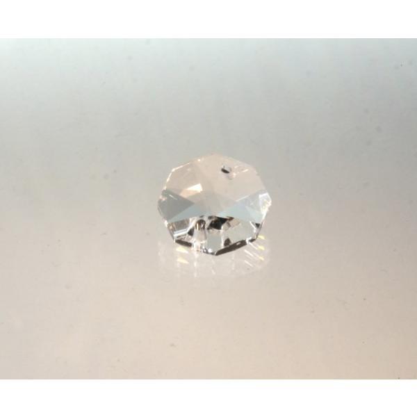 オクタゴン型シャンデリアパーツ カットガラス14mm クリア|decoline