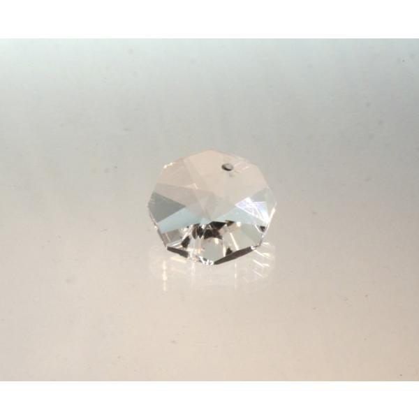 オクタゴン型シャンデリアパーツ カットガラス18mm クリア|decoline
