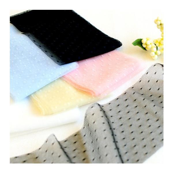 【40%OFF】ソフトチュールリボンドット70mm巾 KIYOHARA 【2.1m巻】【メール便対応】|decollections