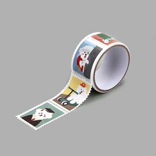 マスキングテープ Stamp - 24 Bichon 【メール便対応】|decollections