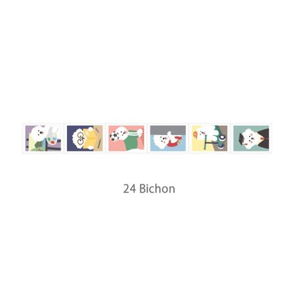 マスキングテープ Stamp - 24 Bichon 【メール便対応】|decollections|02