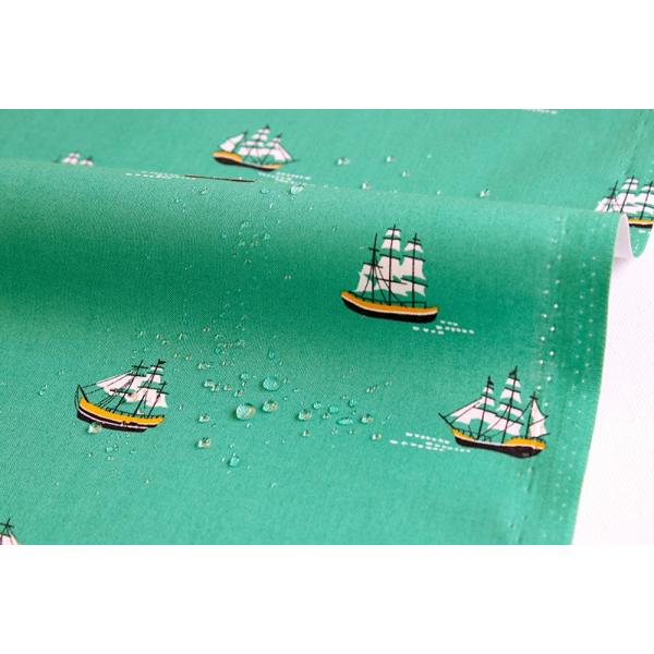 【レシピ付】防水北欧風生地・布 ≪ A vast ocean - ship ≫ 防水コットン/幅108cm 【オリジナル生地】【10cm単位販売】|decollections|02