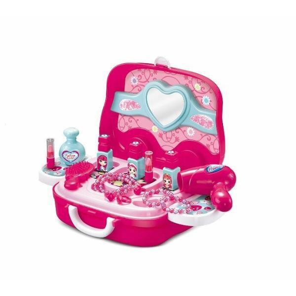 知育玩具 メイク ツールセット メイクアップ コスメティック 女の子  収納トランクセット|decopartsfactory