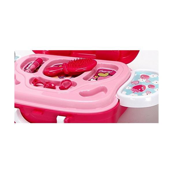 知育玩具 メイク ツールセット メイクアップ コスメティック 女の子  収納トランクセット|decopartsfactory|03